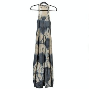All Saints Tie Dye Silk Racerback Aloe Maxi Dress